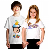 Kaos Anak Disney TSUM-TSUM, Princess SOFIA, TRANSFORMER | Cotton Combed 30s