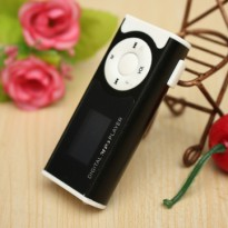 MP3 Player Dengan Slot TF & Clip & LED Flashlight - Black