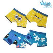 Pierre Uno Kids - Value Pack (2 packs) x Celana dalam anak laki-laki - Sponge/Blue - 4 Pcs