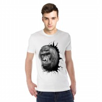 Kaos 3D Kingkong Strong Putih