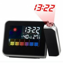 LED Light Weather Projector Clock