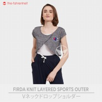 The-Fahrenheit Firda Knit Layered Outer Top
