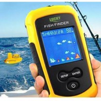 COLOR BERWARNA Wireless Fish Finder Alat deteksi sonar ikan fishfinder