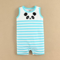JUMB09 - Jumper  Mom & Bab White Blue Stripe Panda