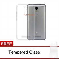 Case Ultra Thin Xiaomi Redmi Note 3 / Note 3 Pro Soft Jelly (Clear)  Free Tempered Glass