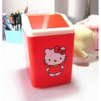 TEMPAT TONG SAMPAH MEJA KOTAK HELLO KITTY