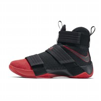 Sepatu Basket Nike Lebron Soldier 10 SFG Suede Red Toe Original