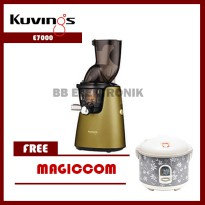 Whole Slow Juicer E7000 Kuvings Matt Champagne Gold Included Smoothies & Ice (Free Strener & Free Magiccom)