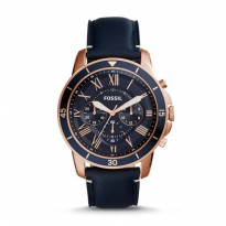 Jam Tangan Pria Fossil GRANT SPORT CHRONOGRAPH BLUE LEATHER FS5237