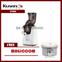 Whole Slow Juicer E7000 Kuvings White Pearl (Free Strener & Free Magiccom)
