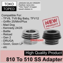 Stainless Steel 810 to 510 adapter | drip tip Kennedy Druga Goon TFV8