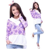 Blouse Flowerina/Blouse Wanita Motif/ Fit to L