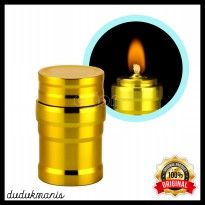 Lampu minyak Mini 10ml Alumunium Lampu Alcohol Burner Lamp PER-135