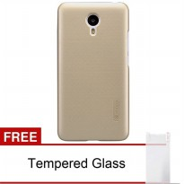Nillkin Meizu M2 Note Frosted Shield Hard Case - Gold + Free Tempered Glass