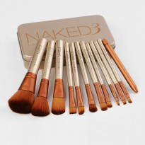 NAKED3 12pcs + BOX KALENG MAKE UP BRUSH - KUAS URBAN DECAY SET
