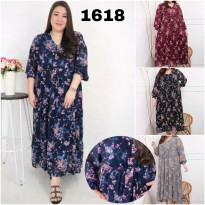 BAJU BIGSIZE MURAH - DRESS NAOMI JUMBO (1618-DS)