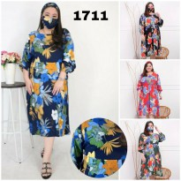 BAJU BIGSIZE MURAH - DRESS AIZYAH JUMBO (1711-DS)