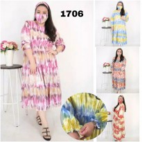 BAJU BIGSIZE MURAH - DRESS YULIA JUMBO (1706-DS)