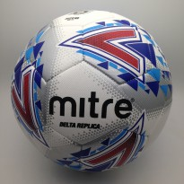 Bola Soccer Mitre Delta Replica L30P FB Ball White Blue BB2019WHL Ori