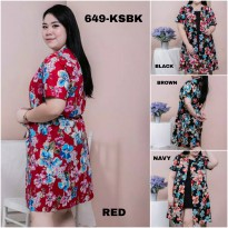 BAJU BIGSIZE MURAH - DRESS SINCLETICA JUMBO (649-KSBK)