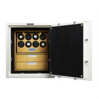 BillStone Luxurious Safe - 8 Watch Winders - Compact R-5 White Maple