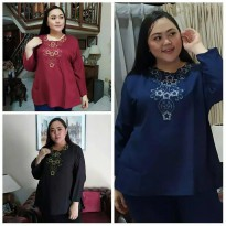 Blouse Super Jumbo Bordir 5L as