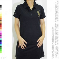POLO COUNTRY Original C14-11 Kaos Polo Tunik Cotton Lycra Hitam