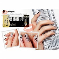 Mizon 3D Premium Nail Make Up Nail Polish Strips # Noir Leopard