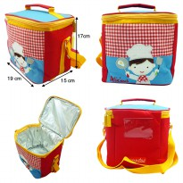 Char & Coll Lunch Bag / Tas Makan Anak Square Free Custom Nama | 12 Motif