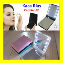 Cermin LED Lipat Kaca Rias Cermin Make Up Mirror Lamp 8 Lampu