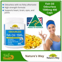 Nature's Way Odourless Fish Oil 1500 mg / 400 Capsules / Omega 3