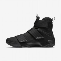 Sepatu Basket Nike Lebron Soldier 10 Black Space Original 844374-001