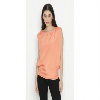 Mobile Power Ladies Monotone Simple Top Sunset orange - OK10028