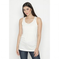 Mobile Power Ladies Lace Singlet - Broken White OK2000025