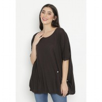 Mobile Power Ladies Roundneck Batwing Top - Cocoa OK20165