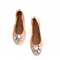 Sepatu Branded Original TB Crystal Flat Shoes