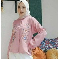 Blouse Bordir Motif Bunga hd