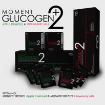 MOMENT GLUCOGEN +2 25 SACHET GLUCOGEN+2 PLUS 2 APPLE STRAWBERRY STEMCELL STEM CELL ORIGINAL BPOM