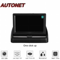 Monitor Parkir Mobil Foldable Rear View TFT LCD 4.3 Inch
