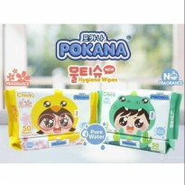 Pokana Pure Water Hygiene Wipes 50s