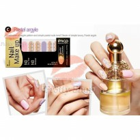 Mizon 3D Premium Nail Make Up Nail Polish Strips # Pastel Argyle