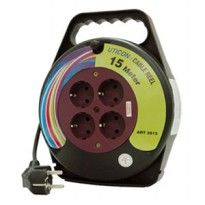 [UTICON] CR2815 Cable Reel 15-m 4-outlet with Arde / Kabel Roll 15-m 4-lubang dengan Arde