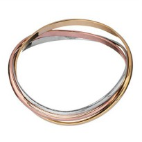 [macyskorea] Of Earth and Ocean Sunlight Interlocking Bangle Bracelets - Tri Tone - Plated/11600627
