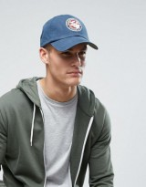 Abercrombie & Fitch Logo Baseball Cap In Blue