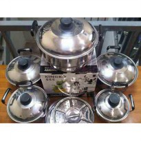 America-High Pots Panci Set + Steamer King-ko/ 5 Panci + 5 penutup + 2 steamer good quality