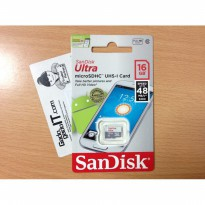 Memory Card / MicroSD Sandisk ULTRA Class/CL10 16GB Speed 48MB/s