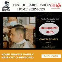 Home Service Family Hair Cut (4 Persons)