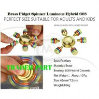 Brass Fidget Spinner Luminous Hybrid 608 With Six Spins