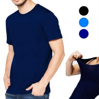 T-Shirt | Kaos Spandek Oblong Polos Basic Slim Stretch Pendek