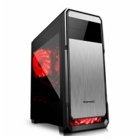 SEGOTEP GAMING CASE THE WIND - Black Silver